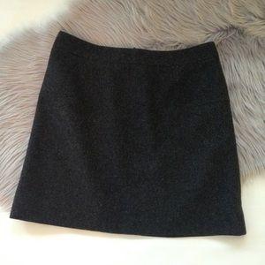 J. Crew gray grey wool pencil mini skirt 8